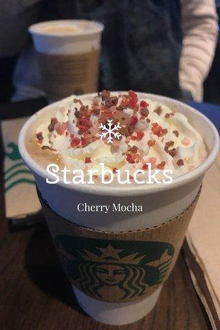 Starbucks Cherry Mocha