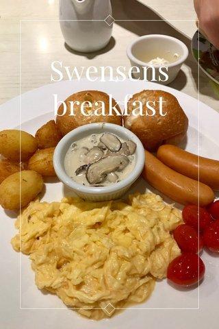 Swensens breakfast