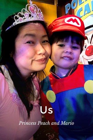 Us Princess Peach and Mario