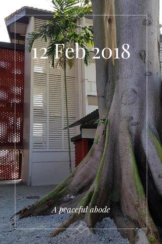 12 Feb 2018 A peaceful abode