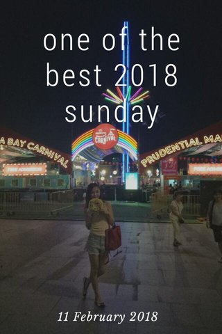 one of the best 2018 sunday 11 February 2018