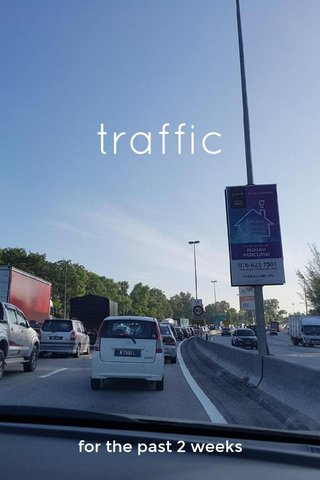 traffic for the past 2 weeks