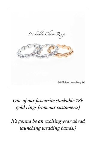 One of our favourite stackable 18k gold rings from our customers:) It's gonna be an exciting year ahead launching wedding bands:) #dayre #dayrebrides #stellersingapore #stellerwedding #dayreans