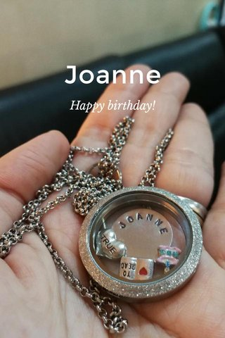 Joanne Happy birthday!