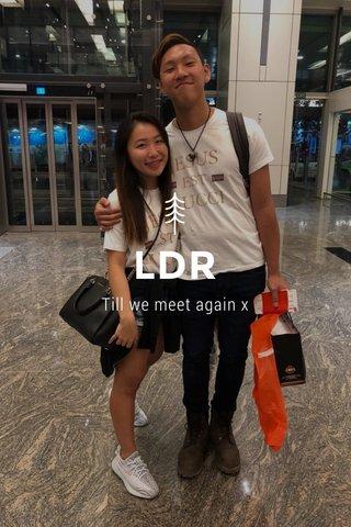 LDR Till we meet again x