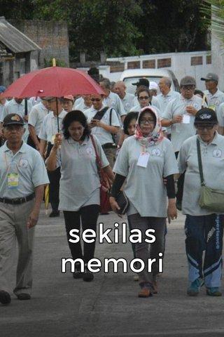 sekilas memori