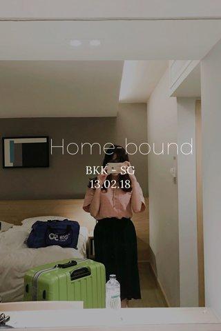 Home-bound BKK - SG 13.02.18