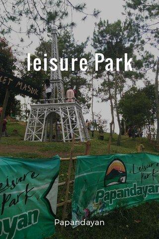 leisure Park Papandayan
