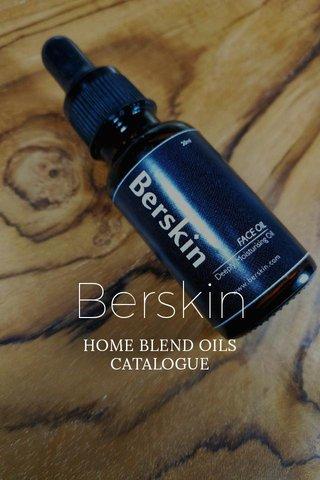 Berskin HOME BLEND OILS CATALOGUE
