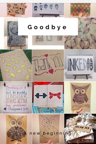 Goodbye A new beginning