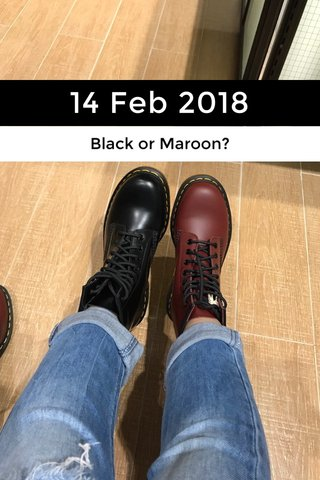 14 Feb 2018 Black or Maroon?