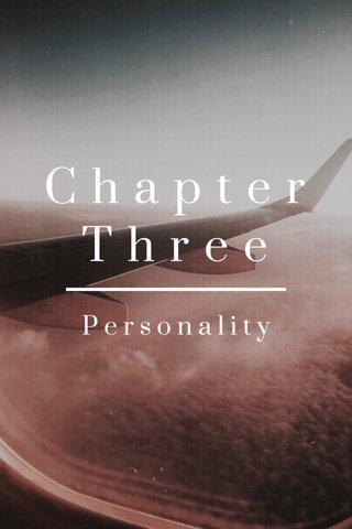 ChapterThree Personality