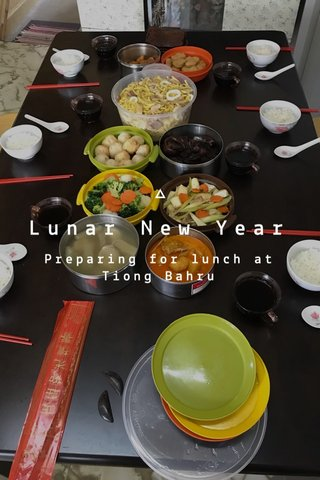 Lunar New Year Preparing for lunch at Tiong Bahru
