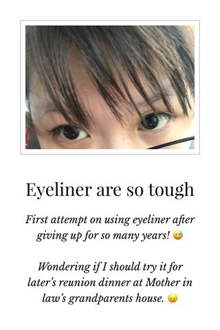 Eyeliner are so tough