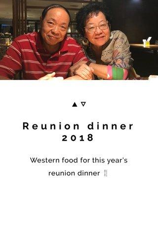 Reunion dinner 2018