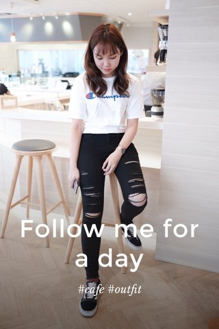 Follow me for a day #cafe #outfit