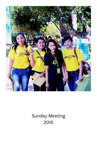 Sunday Meeting 2015