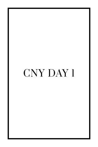 CNY DAY 1