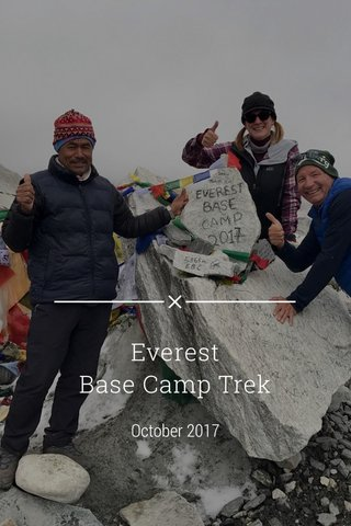 Everest Base Camp Trek October 2017