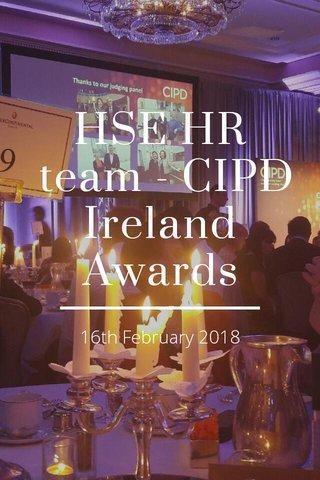 HSE HR team - CIPD Ireland Awards 16th February 2018