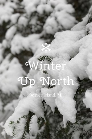 Winter Up North Beaver Island, MI