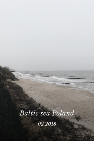 Baltic sea Poland 02.2018