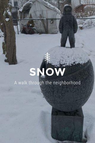 SNOW A walk through the neighborhood