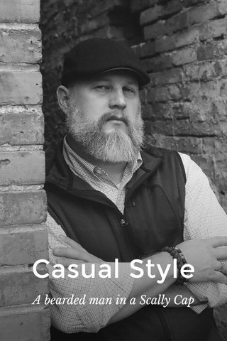 Casual Style A bearded man in a Scally Cap