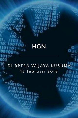 HGN DI RPTRA WIJAYA KUSUMA 15 februari 2018
