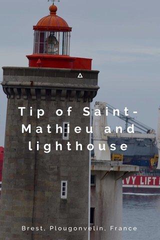 Tip of Saint-Mathieu and lighthouse Brest, Plougonvelin, France