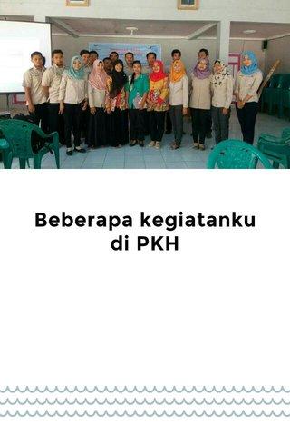 Beberapa kegiatanku di PKH