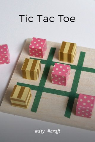 Tic Tac Toe #diy #craft