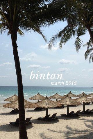 bintan march 2016