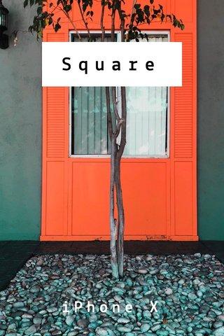 Square iPhone X