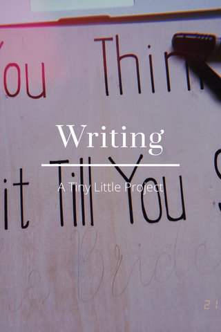 Writing A Tiny Little Project