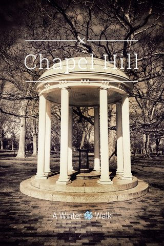 Chapel Hill A Winter ❄️ Walk