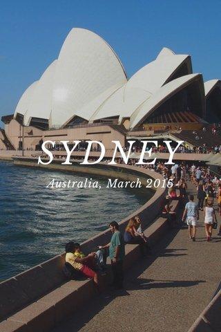 SYDNEY Australia, March 2015