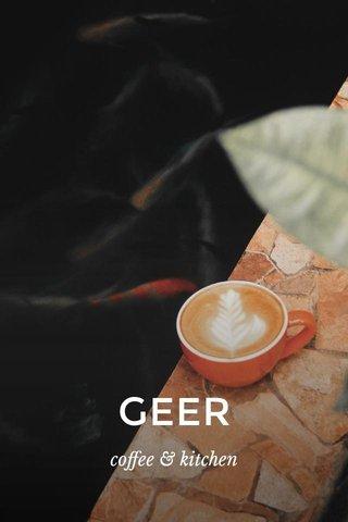 GEER coffee & kitchen