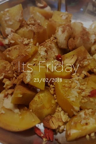 Its Friday 23/02/2018