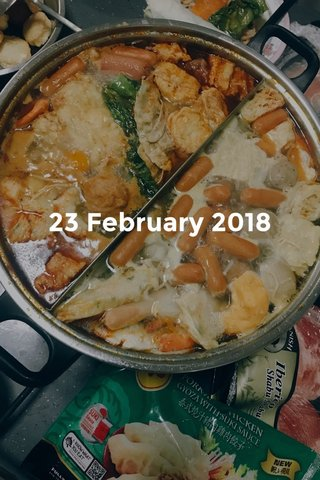 23 February 2018
