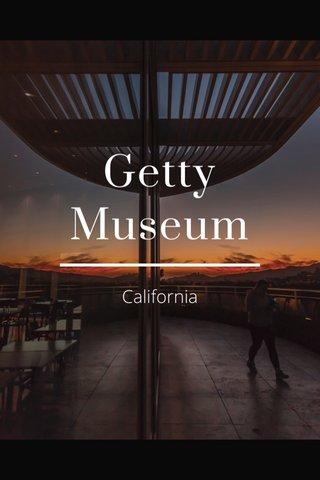 Getty Museum California