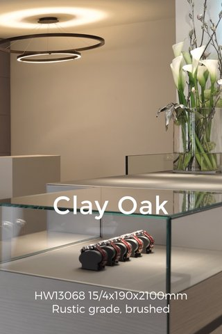Clay Oak HW13068 15/4x190x2100mm Rustic grade, brushed
