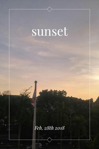 sunset Feb, 28th 2018
