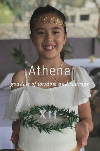 Athena goddess of wisdom and courage