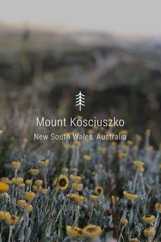 Mount Kosciuszko New South Wales, Australia