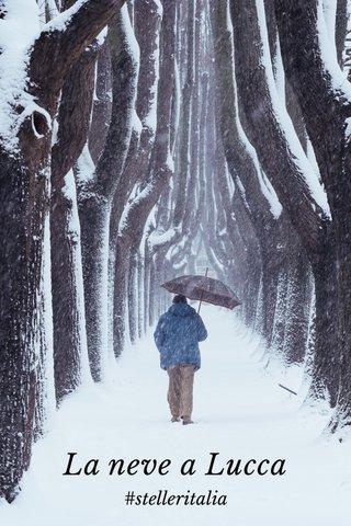 La neve a Lucca #stelleritalia
