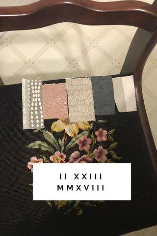 II XXIII MMXVIII