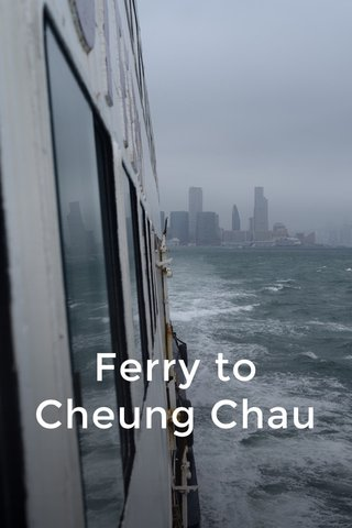 Ferry to Cheung Chau