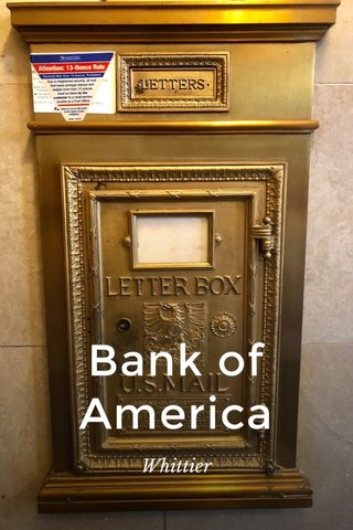 Bank of America Whittier