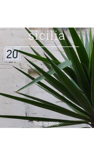 sicilia marzo 2018